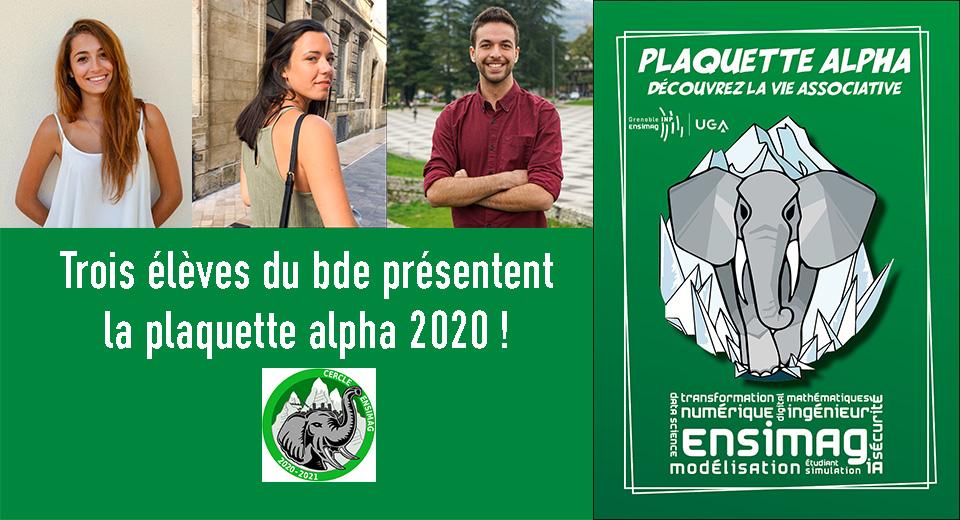plaquette alpha 2020