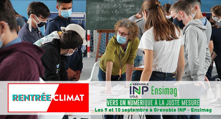 Rentrée Climat à l'Ensimag les 9 et 10 septembre 2021