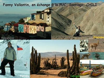 Fanny Vallantin à Santiago - Chili