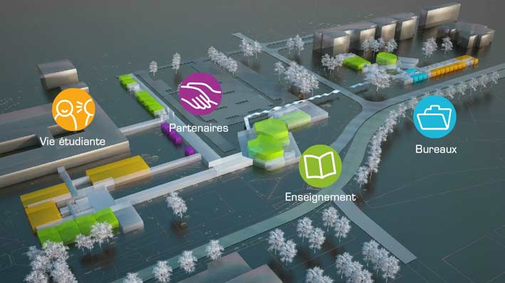 Visualisation des futurs locaux de l'Ensimag