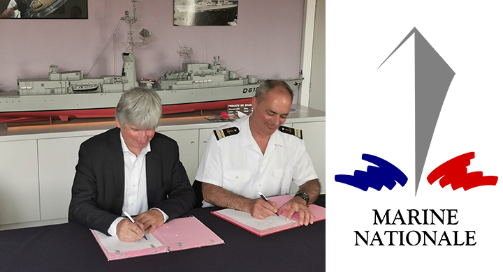 Photo signature Marine Nationale et Ensimag